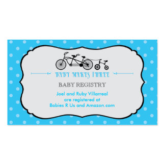 Tandem Bicycle Baby Shower Registry Card Business Card