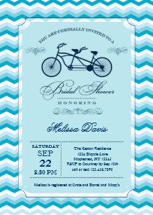 Bicycle bridal shower invitations announcements zazzle ca tandem bicycle bridal shower invitation filmwisefo
