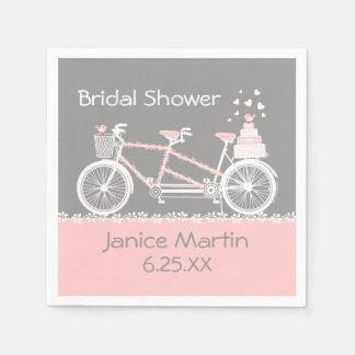 Tandem Bicycle Wedding Paper Napkins