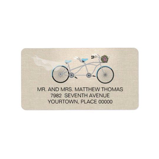 Tandem Bicycle Wedding Return Address
