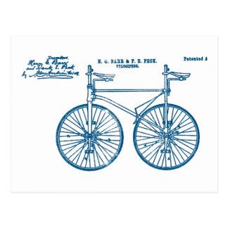 Tandem Bike Velocipede 1891 Peck Postcard
