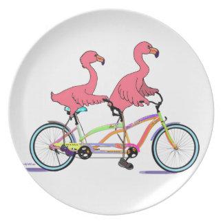 Tandem Flamingos Plate