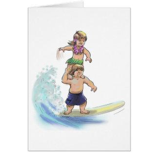 tandem surfers card