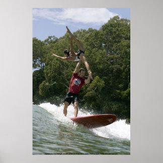 Tandem Surfing at Noosa 2009 Poster