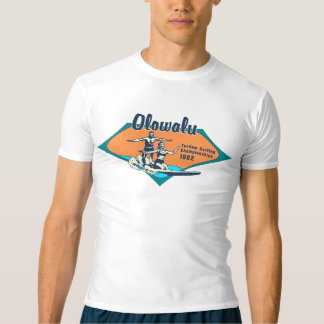 Tandem Surfing Hawaiian Vintage Surf Rash Guard T-shirt