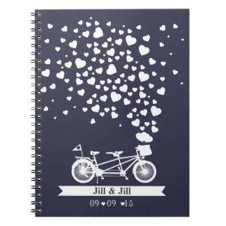 tandem wedding guest book planner notebook