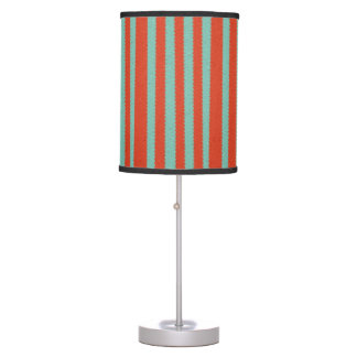 Tangerine and Mint Mosaic Desk Lamp