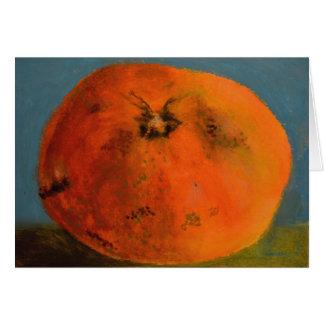 Tangerine Blank Card
