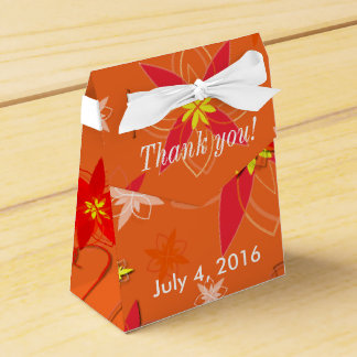 Tangerine Burst Wedding Favor Wedding Favor Boxes