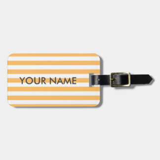 TANGERINE COLOR, CITRUS ORANGE LUGGAGE TAG