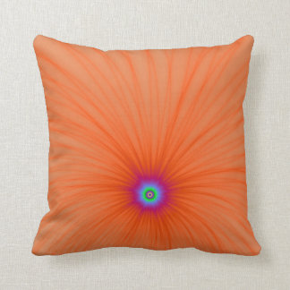 Tangerine Color Explosion Throw Pillow