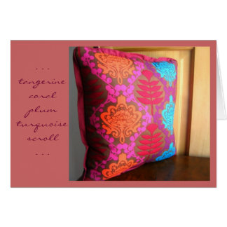 Tangerine Coral Plum Turquoise Scroll Card the 2nd