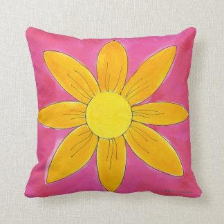 Tangerine Daisy ~ American MoJo Pillow
