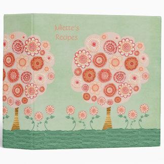 Tangerine Dream 3 Ring Recipe Book Binder