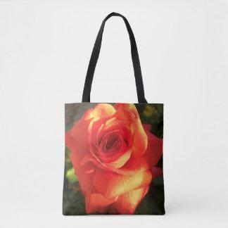Tangerine Dream Rose tote bag