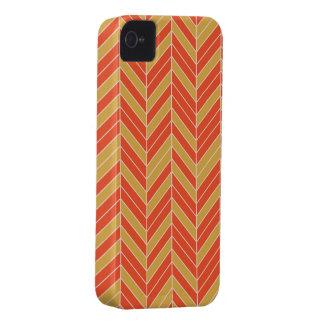 Tangerine Gold Herringbone iPhone 4 Case-Mate Case