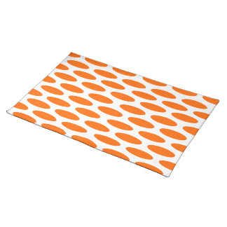 Tangerine Modern Oval at Emporiomoffa Placemat
