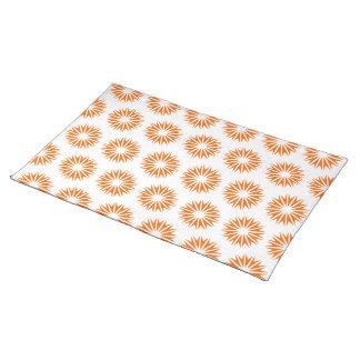 Tangerine Modern Sunbursts Placemat