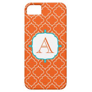 Tangerine Monogram Phone 5 Case