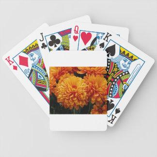 Tangerine Mums Bicycle Playing Cards