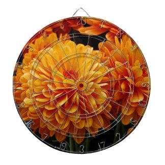 Tangerine Mums Dartboard With Darts