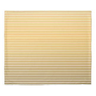 Tangerine Ombre Stripe Duvet Cover