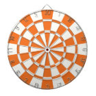 Tangerine Orange And White Dartboard