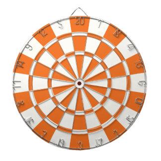 Tangerine Orange And White Dartboard