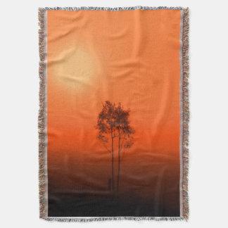 Tangerine Orange Pumpkin Sunrise Afghan Throw Blanket