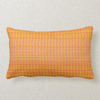 Tangerine, Orange, Yellow Tiny Print Lumbar Pillow