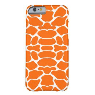 Tangerine Safari Giraffe Barely There iPhone 6 Case