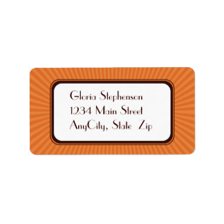 Tangerine Spring Rays Address Labels