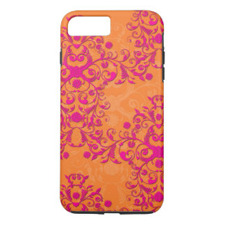 Tangerine Tango Floral Pink and Orange iPhone 7 ca iPhone 8 Plus/7 Plus Case
