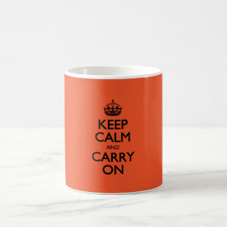 Tangerine Tango Keep Calm And Caryy On Coffee Mug