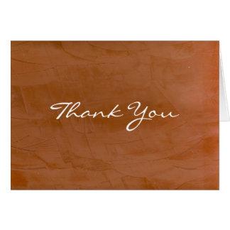 Tangerine Thank You Card