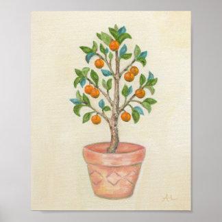 Tangerine Tree art print