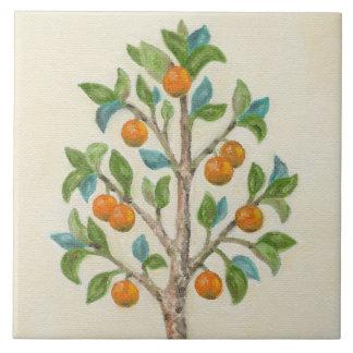 Tangerine Tree wall tile