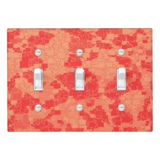 Tangerine Zeal Tiled Artwork Light Switch Cover