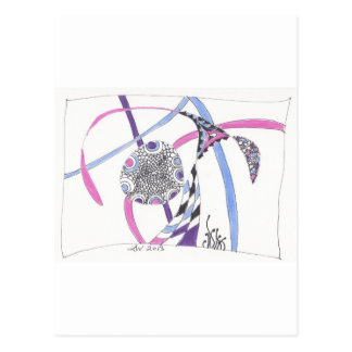 tangle bloom postcard