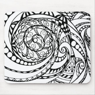 tangle geometric zen pattern mouse pad