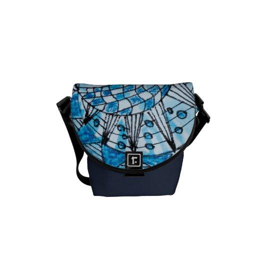 Tangle in Blue Mini Messenger Bag