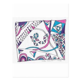 tangle kite postcard