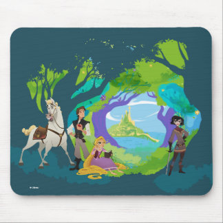 Tangled | Being a Hero is Hard Work Mouse Pad