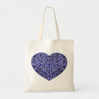 Tangled Blue Heart Tote Bag