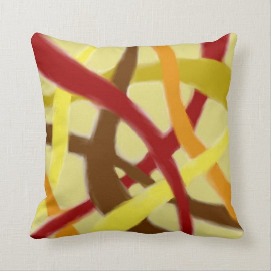 Tangled Blurry Autumn Themed Trow Pillow