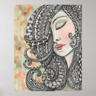 Tangled Hair 1 Print