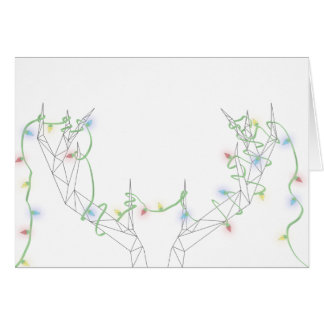 Tangled in the Holiday Lights Greeting Card