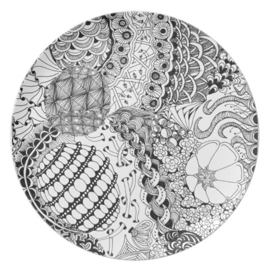 Tangled Laces Plate