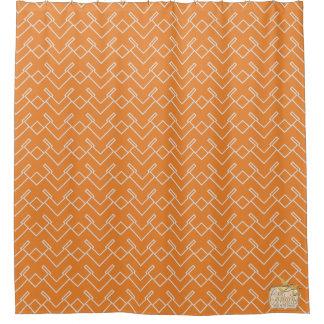 Tangled Orange White Luxury Shower Curtain Set
