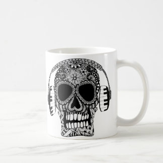 Tangled Skull with Headphones Mug